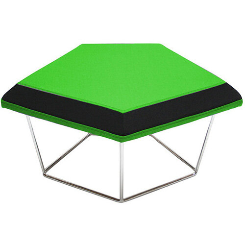 Frovi NEST Modular Stool With Chrome Wire Frame H430xW850xD680mm - Fabric Band D