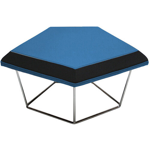 Frovi NEST Modular Stool With Raw Steel Wire Frame H430xW850xD680mm - Fabric Band H