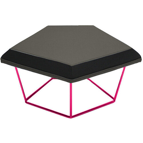Frovi NEST Modular Stool With RAL Painted Steel Wire Frame H430xW850xD680mm - Fabric Band H