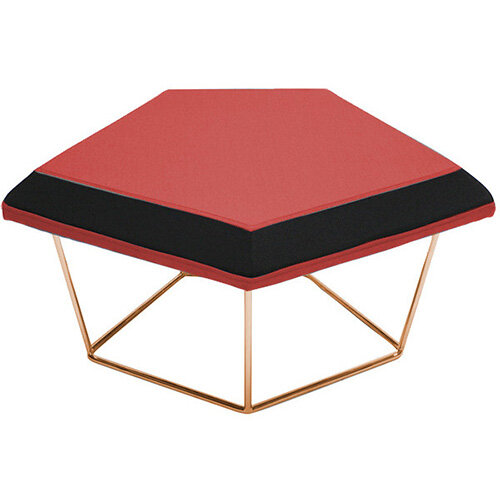 Frovi NEST Modular Stool With Vintage Copper Wire Frame H430xW850xD680mm - Fabric Band C