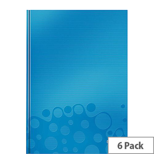 Leitz WOW Hardcover Notebook A4 Blue Pack of 6