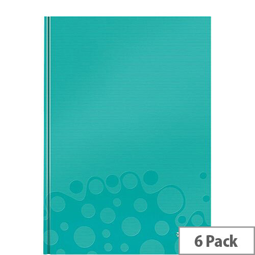 Leitz WOW Hardcover Notebook A4 Ice Blue Pack of 6
