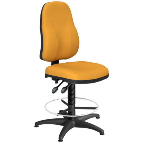 OA Series High Back Draughtsman Chair Bespoke Camira Xtreme Fabric 550-810mm High Base with Chrome Footring &Glides