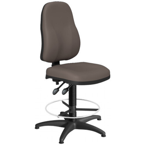 OA Series High Back Draughtsman Chair Bespoke Lotus PU 550-810mm High Base with Chrome Footring &Glides