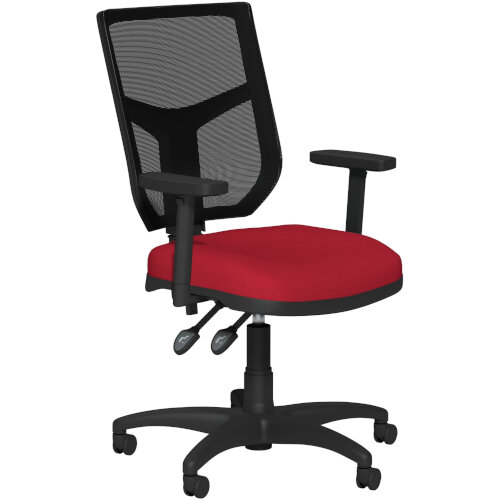 OA Series Mesh Back Office Chair with Adjustable Black Mesh Back Adjustable Arms &Bespoke Evert Fabric Seat