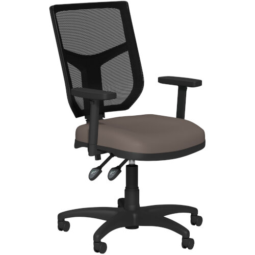 OA Series Mesh Back Office Chair with Adjustable Black Mesh Back Adjustable Arms &Bespoke Lotus PU Seat