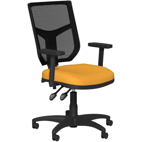 OA Series Mesh Back Office Chair with Adjustable Black Mesh Back Adjustable Arms &Bespoke Camira Xtreme Fabric Seat