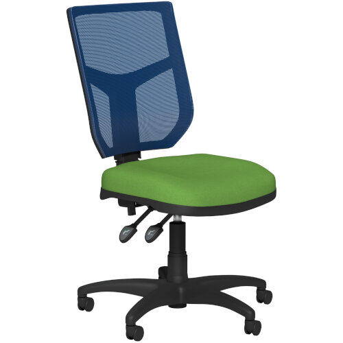OA Series Mesh Back Office Chair with Adjustable Blue Mesh Back &Bespoke Camira Blazer Wool Seat