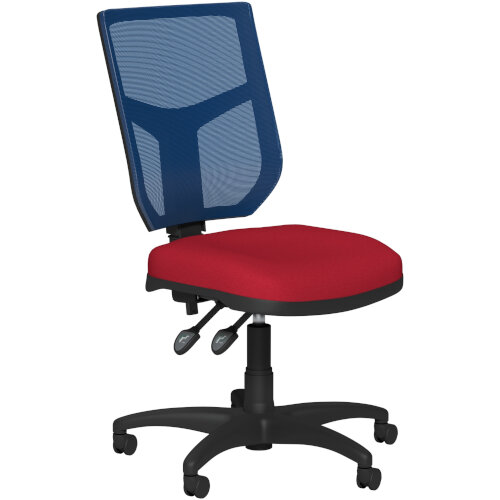 OA Series Mesh Back Office Chair with Adjustable Blue Mesh Back &Bespoke Evert Fabric Seat
