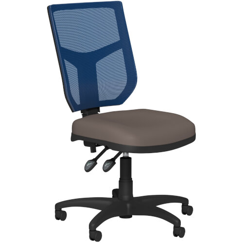 OA Series Mesh Back Office Chair with Adjustable Blue Mesh Back &Bespoke Lotus PU Seat