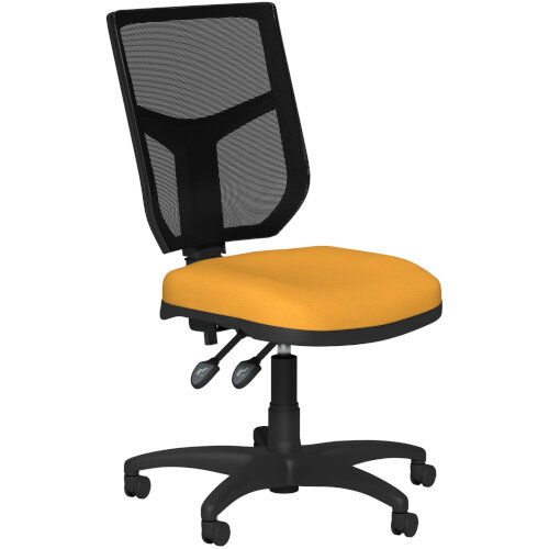OA Series Mesh Back Office Chair with Adjustable Black Mesh Back Bespoke Camira Xtreme Fabric Seat