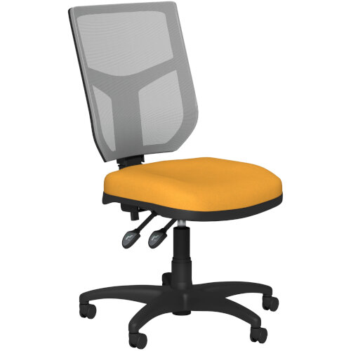 OA Series Mesh Back Office Chair with Adjustable Grey Mesh Back Bespoke Camira Xtreme Fabric Seat