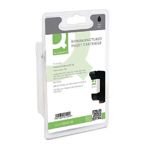 HP No 15 Compatible Black Inkjet Cartridge C6615DE Q-Connect
