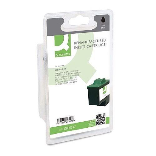 Lexmark No 16 Compatible Black Ink Cartridge 10N0016 Q-Connect
