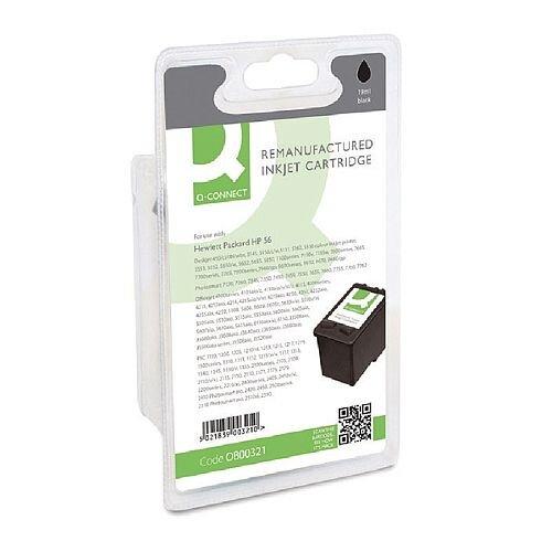 HP No 56 Compatible Black Inkjet Cartridge C6656AE Q-Connect