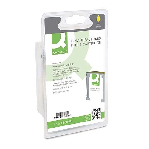 HP No 11 Compatible Yellow Inkjet Cartridge C4838A Q-Connect