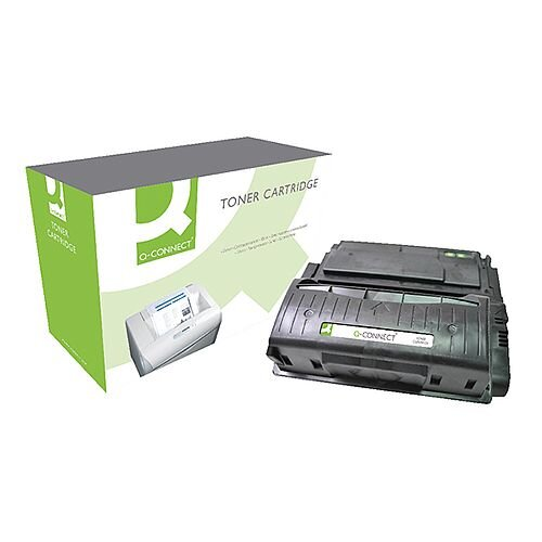 HP 42X Black Compatible High Capacity Laser Toner Cartridge Q5942X Q-Connect