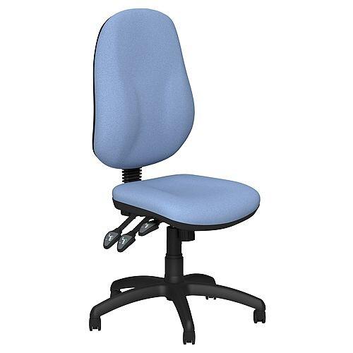 O.B Series Office Chair Fabric Seat Black Base Light Blue