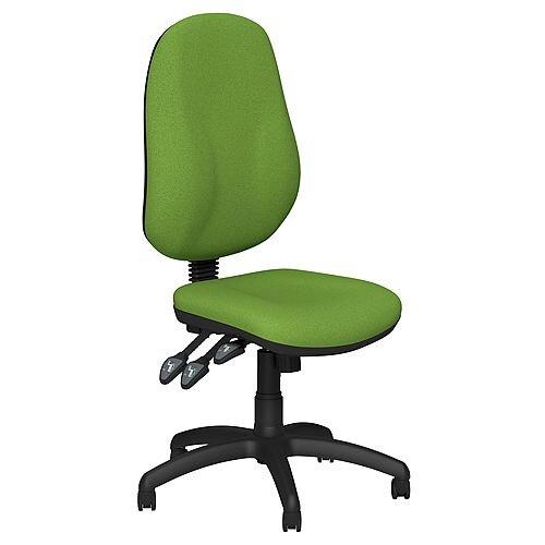 O.B Series Office Chair Fabric Seat Black Base Green