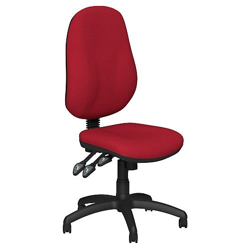 O.B Series Office Chair Fabric Seat Black Base Red