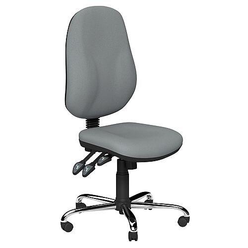 O.B Series Office Chair Fabric Seat Chrome Base Grey
