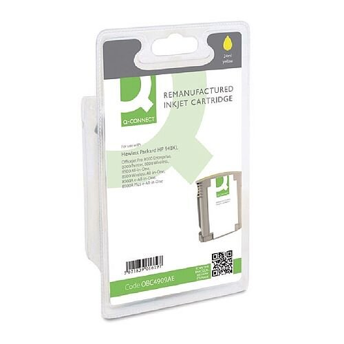 HP 940XL Yellow Compatible Inkjet Cartridge C4909AE Q-Connect