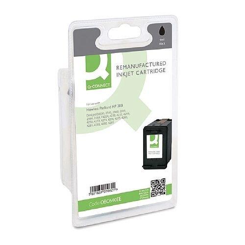 HP No 300 Compatible Black Inkjet Cartridge CC640EE Q-Connect