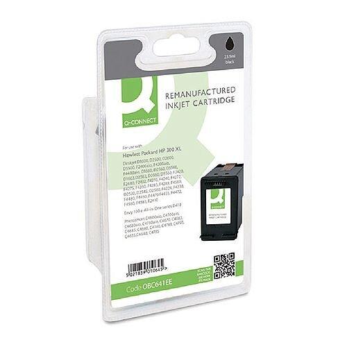 HP 300XL Compatible Black Ink Cartridge CC641EE Q-Connect