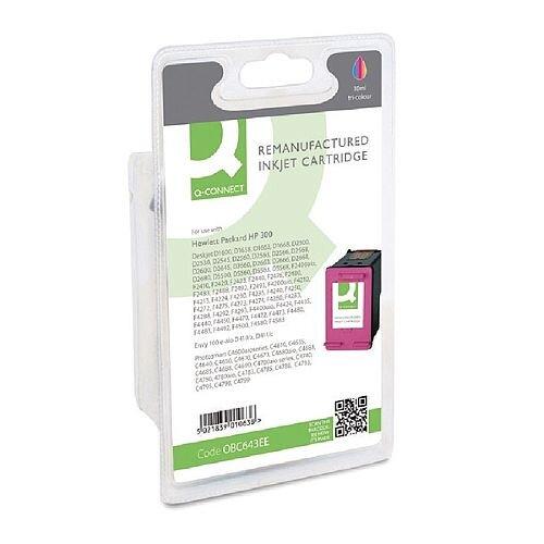 HP No 300 Compatible Tri-Colour Inkjet Cartridge CC643EE Q-Connect