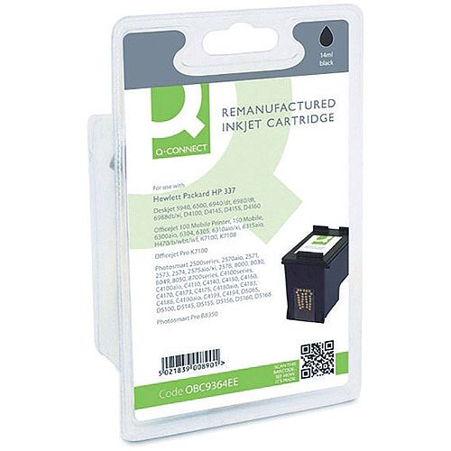 HP No 337 Compatible Black Inkjet Cartridge C9364EE Q-Connect