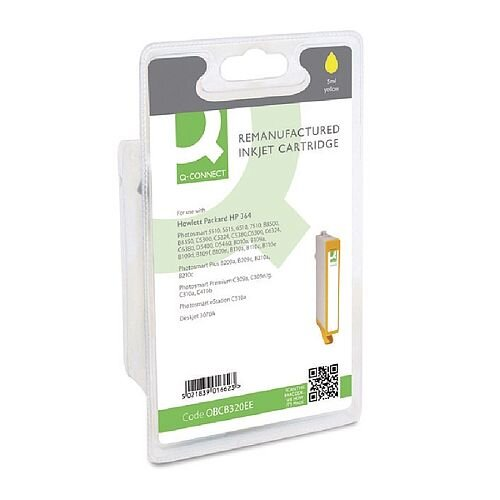 HP No 364 Compatible Yellow Inkjet Cartridge CB320EE Q-Connect