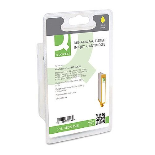 HP 364XL Compatible Yellow High Capacity Ink Cartridge CB325EE Q-Connect