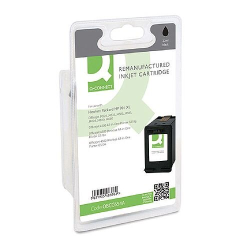 HP 901XL Compatible Black High Capacity Inkjet Cartridge CC654AE Q-Connect