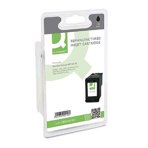 HP 301XL Compatible Black Ink Cartridge CH563EE Q-Connect