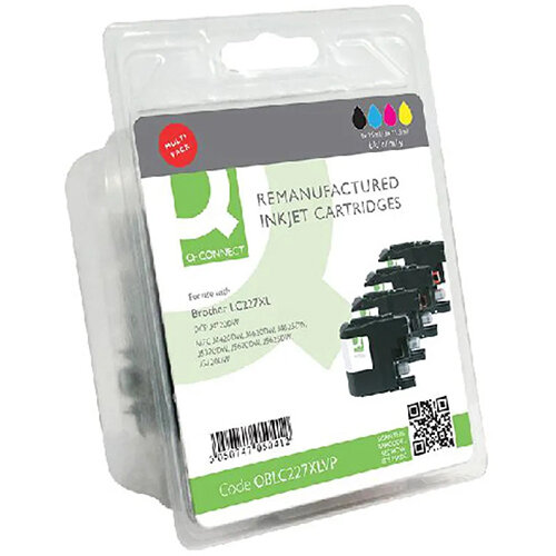Q-Connect Brother LC227XL Ink Cartridges Multi-Pack LC227XLVALBP-COMP