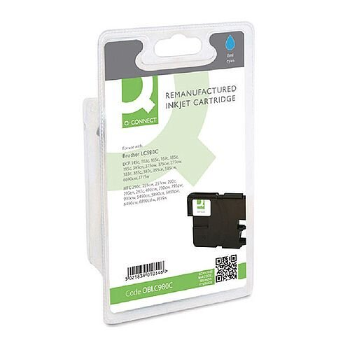 Brother LC980C Compatible High Yield Cyan Ink Cartridge Q-Connect