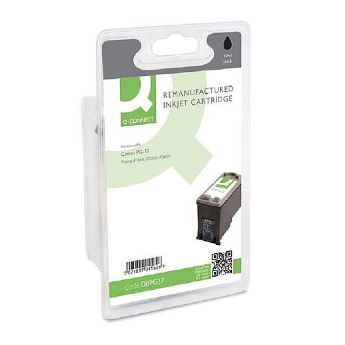 Canon PG-37 Compatible Black Ink Cartridge 2145B001 Q-Connect