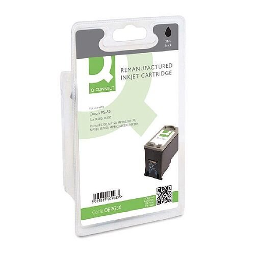 Canon PG-50 Compatible Black Inkjet Cartridge Q-Connect 0616B001