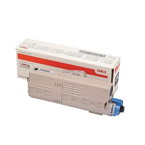OKI 46490404 Black Standard Capacity Toner Cartridge - Standard yield original Oki toner cartridge - For use with C532 and MC573 printers