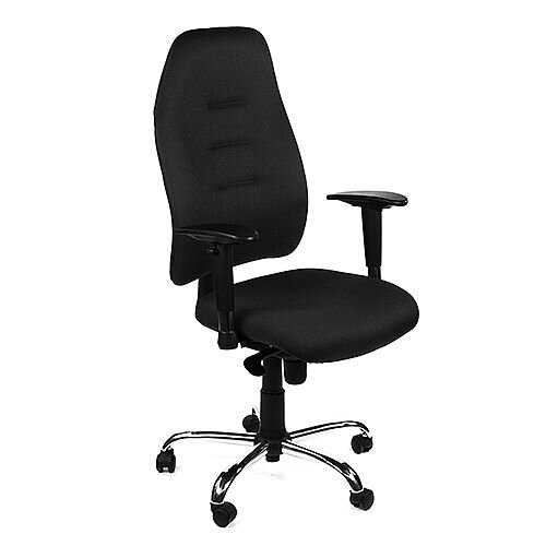 Positura Heavy Duty Task Operator Office Armchair Black Vinyl