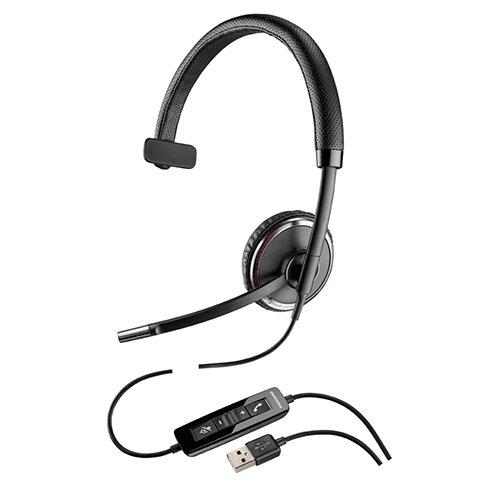 Plantronics Blackwire C510 Monaural USB Wired Headset Black