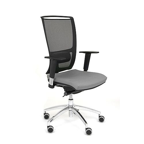 Ergonomic Mesh Task Operator Office Chair With Lumbar Support &Adjustable Arms Black/Grey OZ Series