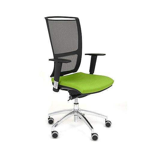 Ergonomic Mesh Task Chair Adjustable Arms Black/Green OZ Series