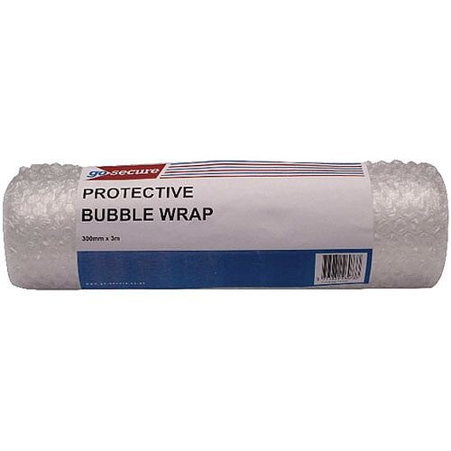 Go Secure Bubble Wrap Roll Small 300mmx3m Clear Pack of 16 PB02288