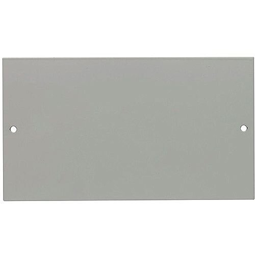 3 Compartment Single Standard White Cover Plate Moulded Blank Plate