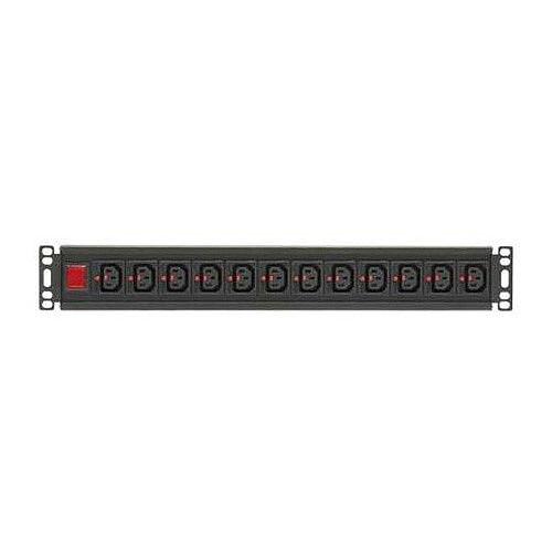 12 Way Horizontal Locking IEC C13 PDU