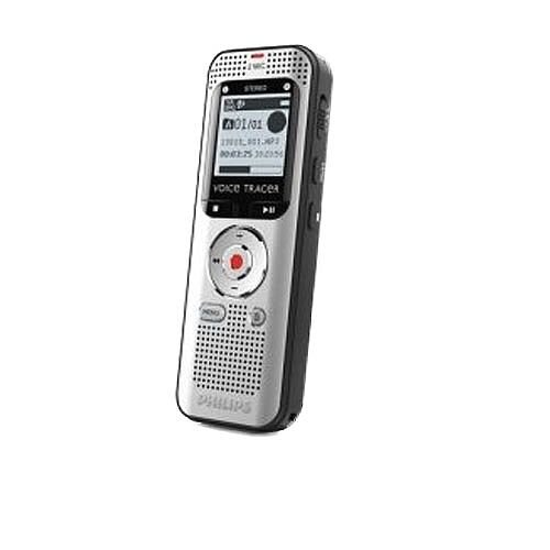 Philips Voice Tracer Recorder DVT2000 4GB Internal Memory. Includes MicroSD Card Slot For Optional Additional storage. This device Can Also Tune In To Radio Frequencies & Lets You Record Your Favourite Radio Programmes.