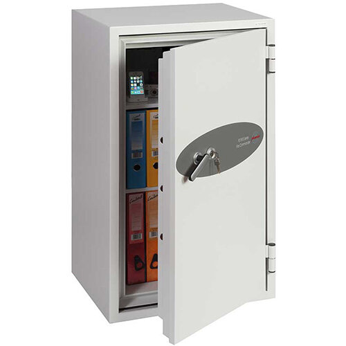 Phoenix Fire Commander FS1911K 220L Fireproof Safe With Key Lock White
