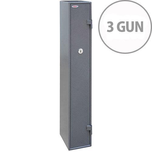 Phoenix Tucana GS8015K Gun Safe With Key Lock For 3 Guns Grey