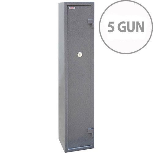 Phoenix Tucana GS8016K Gun Safe With Key Lock For 5 Guns Grey